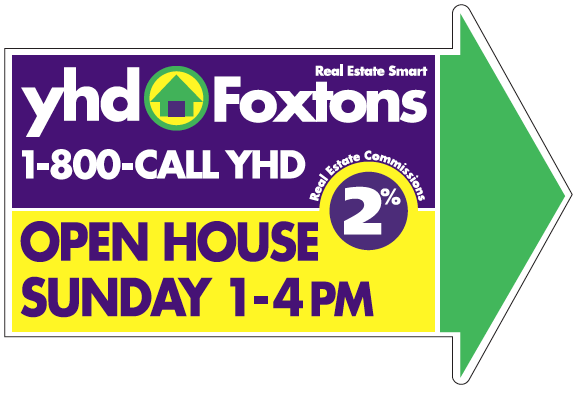 YHDF Open House Sign